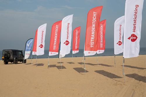 Beachvlaggen 11strandentocht