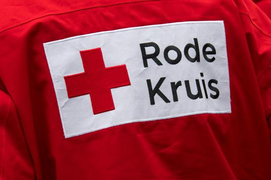 Rode Kruis logo op jas