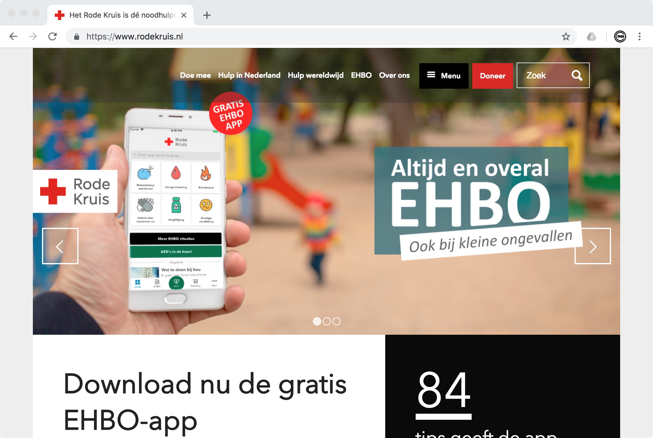 Website Rode Kruis