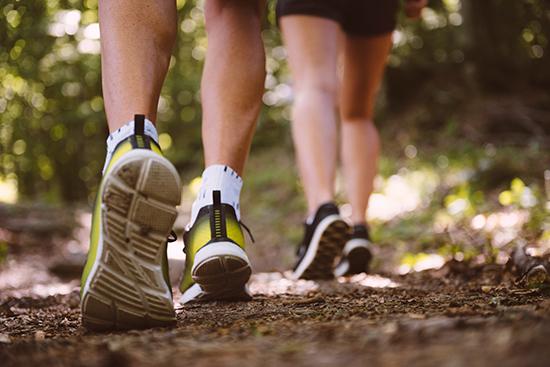 Voeten wandelaars